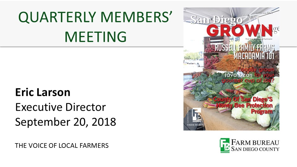 Missed the quarterly meeting?